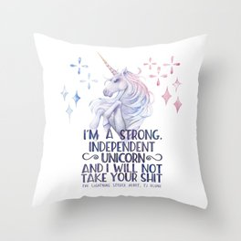 I am a strong independent unicorn - The lightning struck heart Deko-Kissen