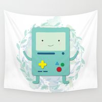 bmo Wall Tapestries featuring BMO love by fox bear designs