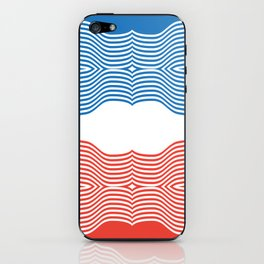 Red & Blue iPhone Skin