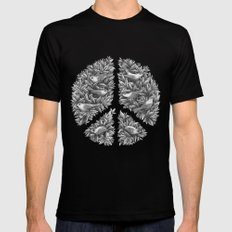 Peace Naturalis Mens Fitted Tee MEDIUM Black