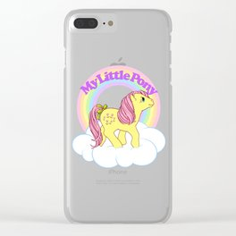 g1 my little pony year 3 Posey Clear iPhone Case