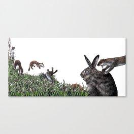 The Weasel War Dance Canvas Print