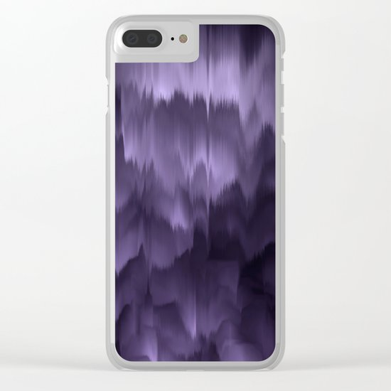 Purple and black. Abstract. Clear iPhone Case