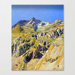 Ernst Hareux View of Massif des Écrins Canvas Print