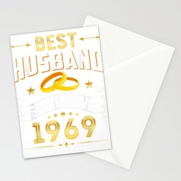 50th Wedding Anniversary Gifts Best Husband Since 1969 Shirt Stationery Cards