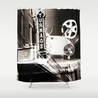 theater Shower Curtains featuring Turnage Theater by Justin Alan Casey