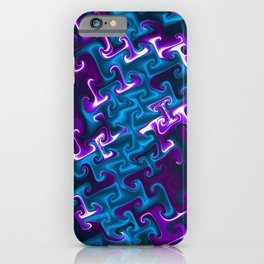 Teal and Purple Gnarl iPhone Case