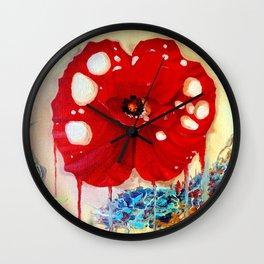 Poppy Painting Wall Clock