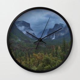 Yosemite Tunnel View Wall Clock