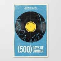 500 days of summer Canvas Prints featuring (500) Days of Summer by Bill Pyle