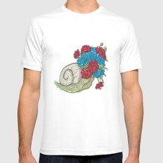 Snail MEDIUM Mens Fitted Tee White