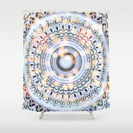 Abstract memories mandala  Shower Curtain