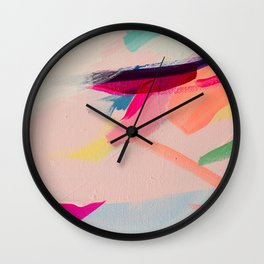 Wild Ones #2 - abstract painting Wall Clock