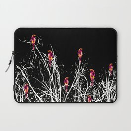 Red Birds Black Laptop Sleeve