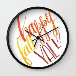 Happy Fall Y'all!! Wall Clock
