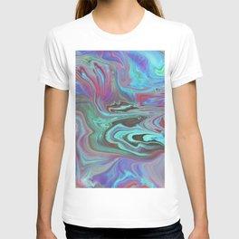 Fluid Nature - Blue Lava - Abstract Acrylic Pour Art T-shirt