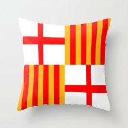 barcelona city flag spain country Throw Pillow
