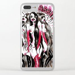 Red Rabbit Clear iPhone Case