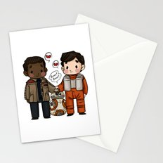 Finn and Poe and their Bay-be Stationery Cards