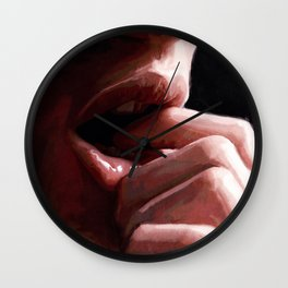 Lips Of Lust And Desire Wall Clock