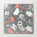 Seamless pattern design with hand drawn flowers and floral elements by bluelela