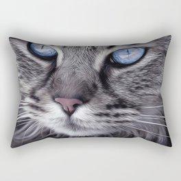 Cat Animal Portrait Rectangular Pillow