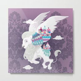 Flying Lion of Venice Metal Print