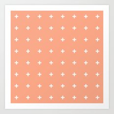 Peach Cross // Peach Plus Art Print