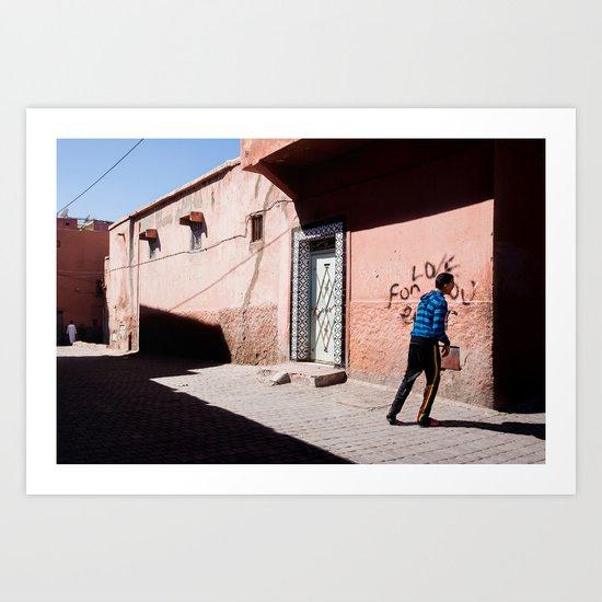 Marrakech Medina Art Print