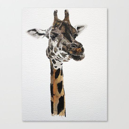 Giraffa camelopardalis Canvas Print