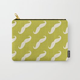 Curly Moustache (Handlebar Moustache) - White Green Carry-All Pouch