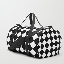Black and white rhombus Duffle Bag