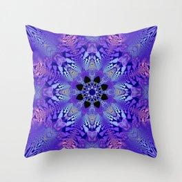Pink, purple and sand kaleidoscope Throw Pillow