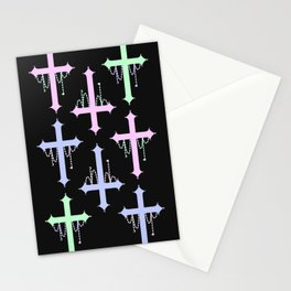 Crosses with Beads Stationery Cards
