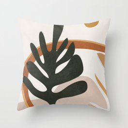 Abstract Plant Life I Throw Pillow