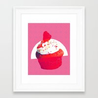 cupcake Framed Art Prints featuring Cupcake by Mr and Mrs Quirynen