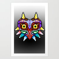 majoras mask Art Prints featuring Majoras Mask /Pixel /zelda by tshirtsz