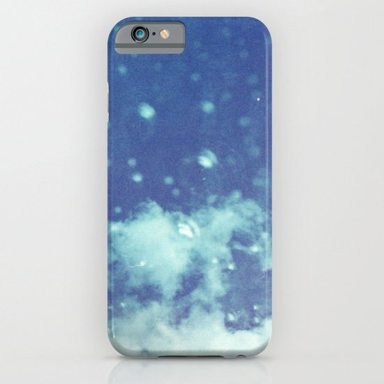 Blue and purple bubble clouds II iPhone & iPod Case