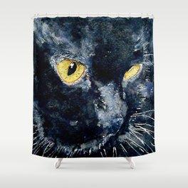 Gus My Big Black Cat Shower Curtain