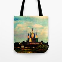 once upon a  time Tote Bags featuring Once Upon a Time by Forgotten Beauty