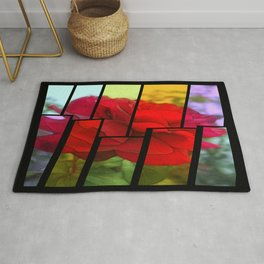 Red Rose Edges Tinted 2 Rug