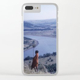 Vintage South African Landscape and People Clear iPhone Case