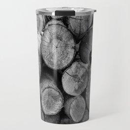 Pile of chopped firewood Travel Mug