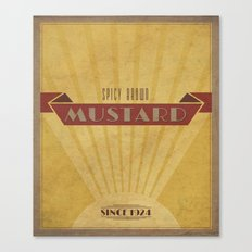 Spicy Brown Mustard Canvas Print