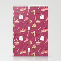 baking Stationery Cards featuring Shaking n' Baking by Valentina Cariel