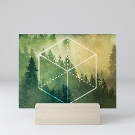 The Elements Geometric Nature Element of Earth Mini Art Print