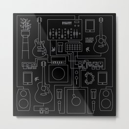 Schematic Diagram Metal Print