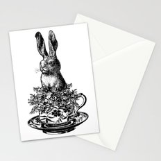 Rabbit in a Teacup | Black and White Stationery Cards