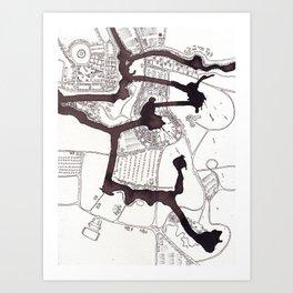 Radial Planning (Cityspace #25) Art Print