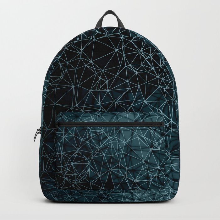 Polygonal blue and black Backpack